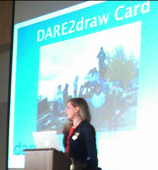 DAREarts Founder and President, Marilyn Field, explains how the DARE2draw program helps Aboriginal youth in remote communities.