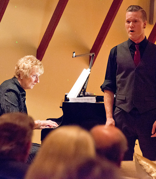 Pianist Ruth Morawetz accompanies Bass Baritone Brenden Frieson. Photo by Pete Paterson.
